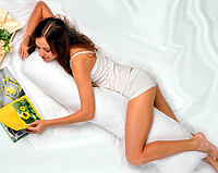 Подушка для тела и беременных S-Form 40х130 белая