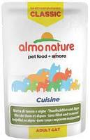 Влажный корм (Пауч) ALMO NATURE Classic Cuisine Filetto di Tonno e Alghe для кошек с мясом тунца  55 гр.