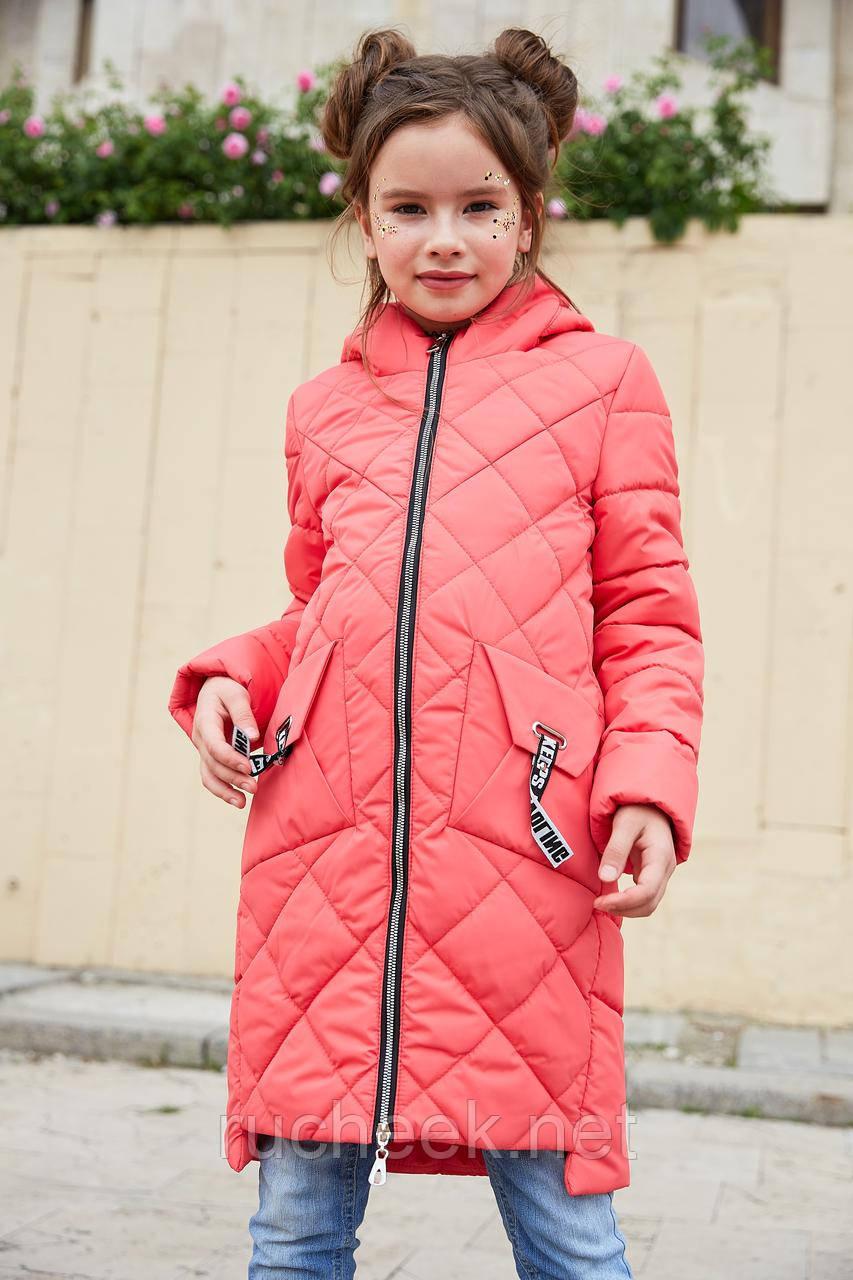 Удлиненная детская куртка Жаклин - новая коллекция! Размеры 116 - 134.