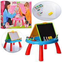 Детский мольберт 8805-06 розовыйдвухсторонний с игровым столиком Гарантия качества Быстрая доставка