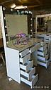 """Стол для визажиста """"Кристалл"""", гримерное зеркало с подсветкой,туалетный столик для макияжа, белый, фото 4"""
