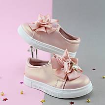 Детские слипоны Бант Розовые размер 22,23,25, фото 2