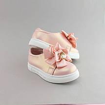 Детские слипоны Бант Розовые размер 22,23,25, фото 3