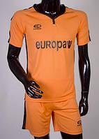 Футбольная форма для команд Europaw 009 оранжево-черная, фото 1