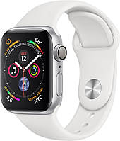Apple Watch Series 4 44mm Silver Aluminum Case with (White) Sport Band( MU6A2)