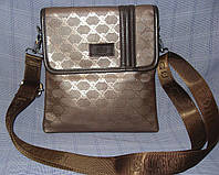 Мужская сумка Gucci 9929-2 коричневая искусственная кожа