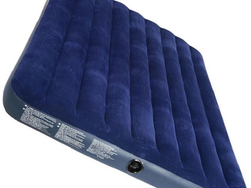 Двухспальный надувной флокированный матрас матрац CLASSIC INTEX 68755 ортопедический 203х183х22 см