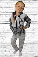 Детский теплый спортивный костюм   LV с начесом, фото 1