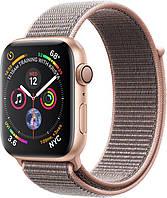 Apple Watch Series 4 44mm Gold Aluminum Case with Pink Sand Sport Loop (MU6G2)