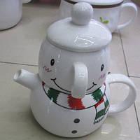 "Заварник с чашкой ""Снеговик"""