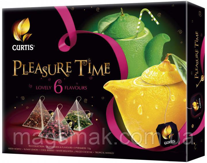 Набор пакетированного чая Curtis Assorti Tea Collection Pleasure Time 6 видов по 5 пирамидок