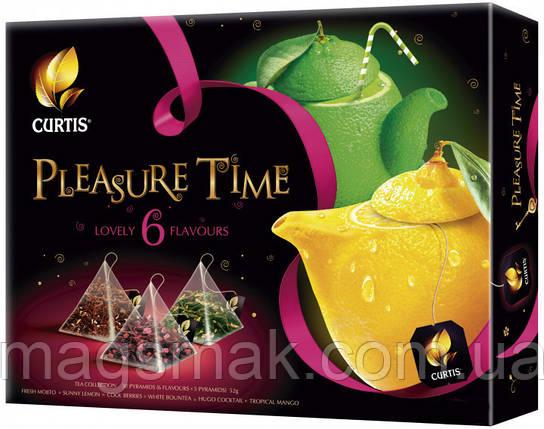 Набор пакетированного чая Curtis Assorti Tea Collection Pleasure Time 6 видов по 5 пирамидок, фото 2