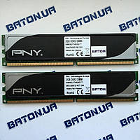 Игровая оперативная память PNY DDR2 2Gb+2Gb 800MHz PC2 6400U CL6 (64B0QJTHE8G17), фото 1