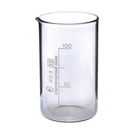 Стакан мерный с носиком 100 мл, стекло