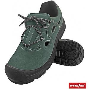 Защитные сандали BRALACE-S1 ZB унисекс, с стальным носком,верх из кожи, темно-синего цвета. REIS