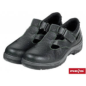 Защитные сандали BRANDREIS BSZ с стальным носком,верх из кожи, темно-синего цвета. REIS