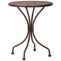 Стол обеденный садовый Шампань столешница металлическая сетка Какао D600 мм (AMF-ТМ)