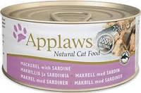 """Влажные консервы Applaws """"Со скумбрией и сардинками"""" 12/1 (для взрослых кошек), 70 г"""