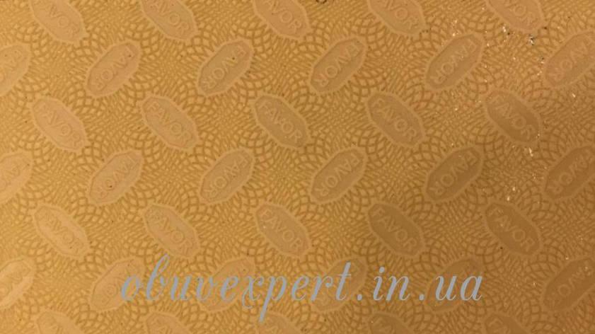 Резина подмёточная FAVOR, р. 570*380*1.2 мм, цв. св-бежевый, фото 2