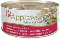 Влажные консервы Applaws для котов c Куриной грудкой и уткой, 70 г