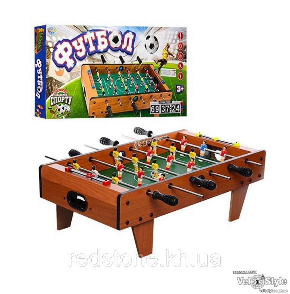 Футбол 2035N на штангах, деревянный (шкала вед.счета, мяч)