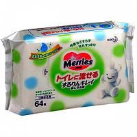 Влажные салфетки Merries, 64 шт
