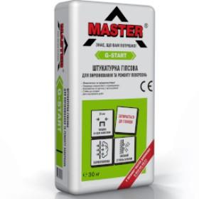 Штукатурка гипсовая для выравнивания и ремонта поверхностей ТМ «MASTER-G-Start»