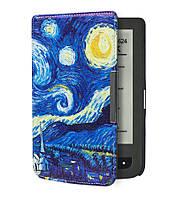 Чехол для PocketBook 626/625/624/615 Touch Lux 3 обложка Покетбук (Ван Гог Звёздная Ночь)