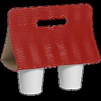 Кейс для стаканов Красный Волна (1уп/25шт)