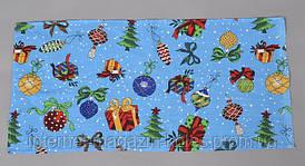 Новогоднее кухонное вафельное полотенце 211
