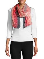 Женский шелковый разноцветный полупрозрачный шарф Calvin Klein
