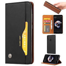 Чехол книжка для Huawei P Smart Plus   Nova 3i боковой с отсеком для визиток, ORIGINAL Черный