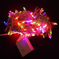 Гирлянда Нить Конус-рис LED 300 мульти, белый провод, фото 1