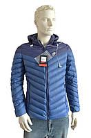 Мужская куртка  в стиле Nike ( еврозима) с капюшоном  Фабричный Китай  синяя