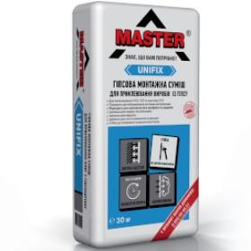 Клей гипсовый мортажный для гипсокартона ТМ «Master-Unifix»