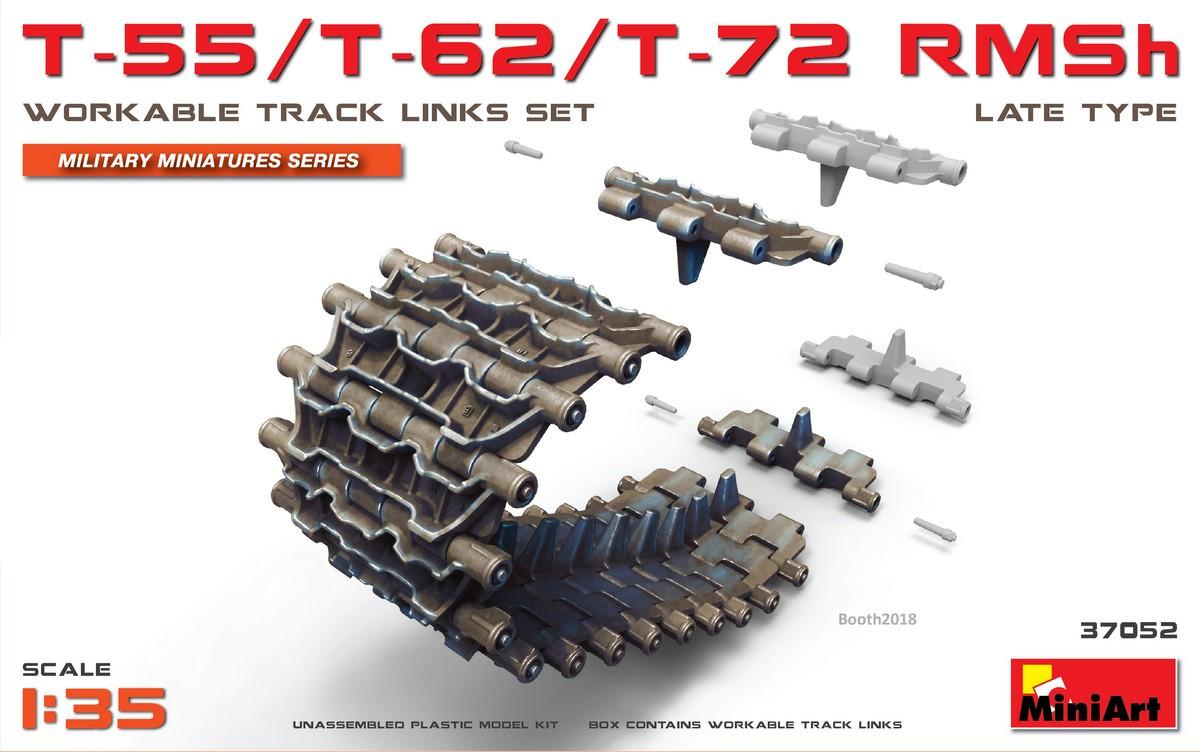 Набор рабочих траков T-55/T-62/T-72 RMSh позднего типа. 1/35 MINIART 37052