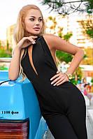 Комбинезон женский с открытой спинкой и глубоким декольте 1108 фан Код:569717063, фото 1
