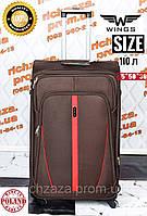d7883b7c850c Большой качественный коричневый дорожный чемодан на 2 колесах фирма Wings  Одесса Украина