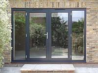 Окна алюминиевые распашные, раздвижные, система гильотина