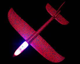 Метательный Самолёт планер светящийся