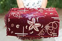 Комплект на диван и кресла (гобелен ковровый) 160х220. Орхидея бордо, фото 1