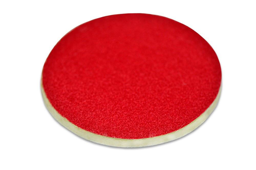 Круг липучка фетр  Vorеl 150 мм красный