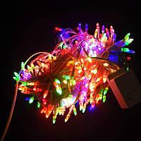 Гирлянда Нить Конус-рис LED 500 мульти, белый провод (1-30)