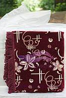 Комплект полуторный, гобелен ковровый на диван и кресла 140х200. Орхидея бордо, фото 1