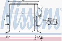 Радиатор кондиционера BMW 3 E36 (Nіssens)