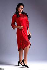 Хит сезона! платье женское нарядное демисезонное эко-замш размеры:52,54,56, фото 2