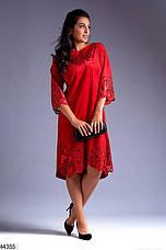 Хит сезона! платье женское нарядное демисезонное эко-замш размеры:52,54,56, фото 3