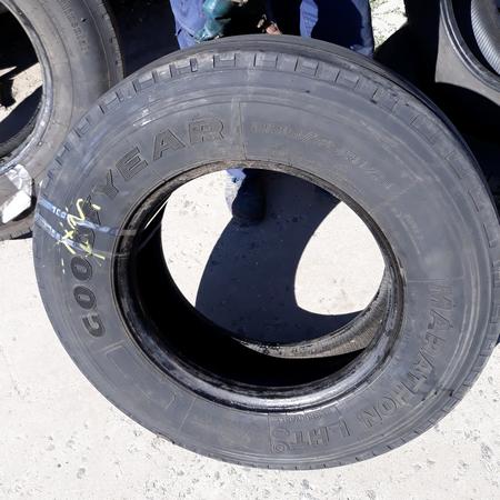 Шины б.у. 235.75.r17.5 Goodyear Marathon LHT Гудиер. Резина бу для грузовиков и автобусов