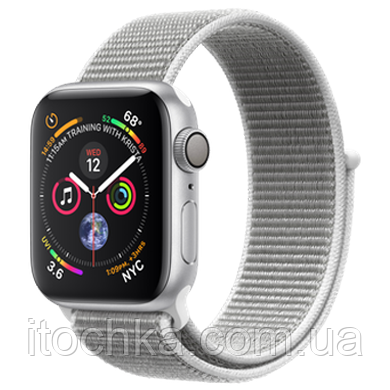 Apple Watch Series 4 44mm Silver Aluminum Case with Seashell Sport Loop (MU6C2)