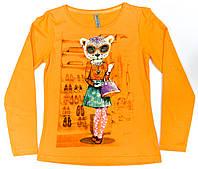 Кофта подростковая для девочки 133-42G-21-320 Оранжевая